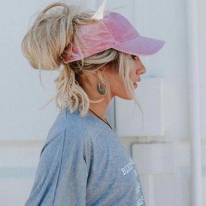 Crushed velvet pink hat